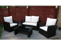 Ratten garden furniture (four seater plus table)