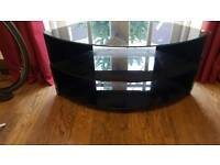 Black glass tv unit corner style