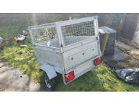 Small Car Trailer With Cage & Tipper