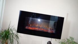 Living Flame Wall Mounted Electric Fire