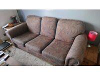 Handmade sofa and armchair