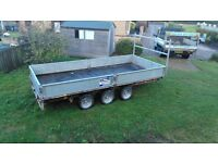 2010 ifor williams lm146 tri axle trailer in excellent conditio with 8ft skids