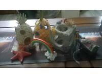 fish tank ornaments.................................................................................