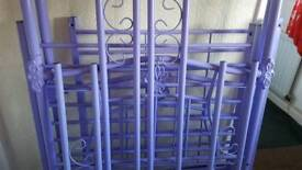 Purple four poster single bed frame