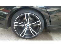 BMW M5 M6 STYLE ALLOYS WITH GOOD TYRES/ E90 E91 E46 5X120