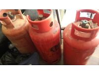 3 propane gas bottels for sale in good condition