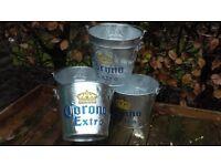 Beer / Ice buckets metal embossed Corona Buckets Mint Downend