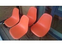 4 Charles Ray Eames Kitchen Dining Chairs