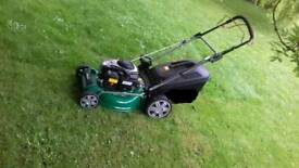 Mowing lawns and more.