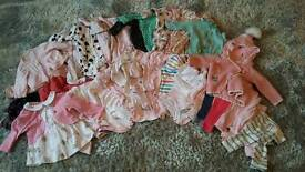 Large bundle of girl's clothes 0-3 months