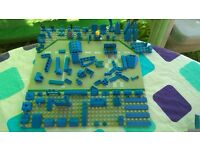 LEGO 450 Blue Mixed Bricks, Parts and Pieces - genuine
