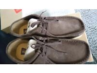 Mens shoes, brown, size 8