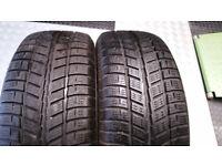 185 55 15 2 x tyres Cooper Coperatres