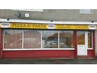 Pizza, pasta, kebab, burgers, take away and delivery, leasehold for sale