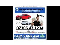 ‼️ ALL CARS VANS WANTED CASH TODAY ANY CONDITION SELL MY SCRAP NO MOT FAST COLLECTION