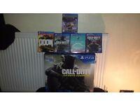 Ps4,slim500gb,codbundle,&5 games,unwanted gift,2 weeks old £300bargain!1 year warranty etc