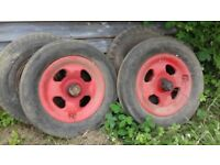 2 fordson tractor wheels and tyres
