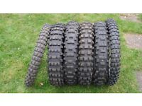 SIX MOTOR CROSS TYRES ALL VERY GOOD AND SOME OTHER PARTS NO LONGER HAVE BIKE