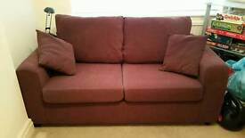 2 seater sofa bed memory foam topper double bed