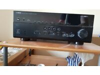 Yamaha RX673 Home Cinema Amplifier and Q Acoustic 5.1 Surround Sound Speakers