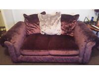 Laurence Llewely-bowen purple 2 piece sofa