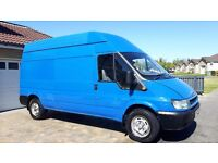 55 Plate Ford Transit Long Wheel Base High Roof in Blue !!!!!!!! loads paper work etc!!