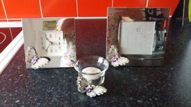 clock, photo frame and t-light holder