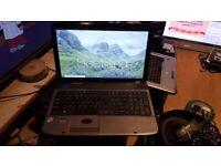 acer aspire 5738 windows 10 4g memory 250g hard drive webcam wifi dvd drive hdmi charger