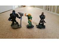 Excellent condition Disney infinity 2.0 figures