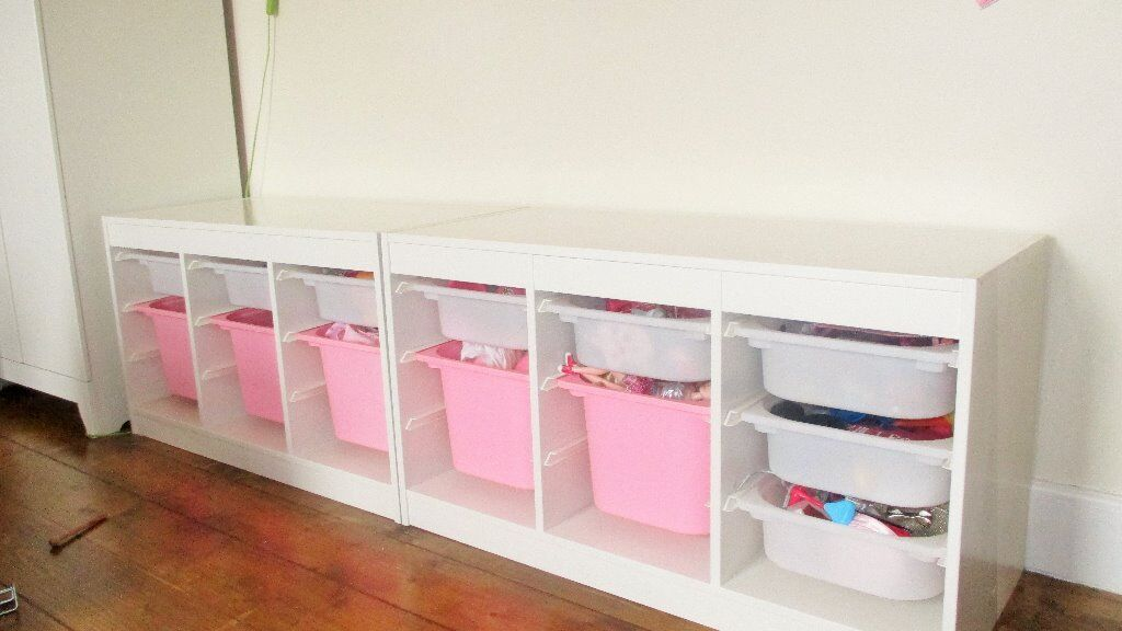 childrens ikea white trofast unit buy sale and trade ads. Black Bedroom Furniture Sets. Home Design Ideas