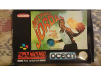 snes pal game cart micheal jordan chaos in windy city