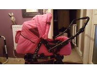 Pram with carry cot and car seat very good condition