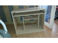 Small Office Desk Computer Study Table Home Work Shelf Workstation
