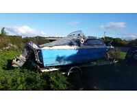 17ft shetland trailer and 50hp outboard