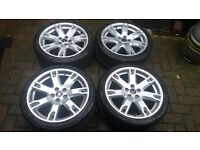 "NEW TYRES ON 18"" FORD FOCUS ST RS MONDEO TITANIUM TRANSIT CONNECT S MAX ALLOY WHEELS NEW TYRES"