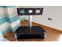 Black glass cantilever TV stand for sale