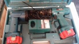 Makita Drill And Torch Set Boxed