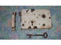 Very Old Cast Iron Rim Lock