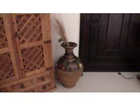 2 x Handcrafted/Handpainted Terracotta Pots