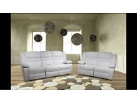 Venis White or Red Recliner Cupholder 3+2 Sofa Set Brand New Boxed Free Delivery & Home Setup