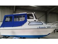 Pilot 490 Wilson flyer, 15HP 4 stroke, Fishing boat, Coastal cruiser, River boat. Bsc cert. Taxed.