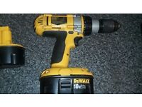 dewalt drill £45.00 comes with 2 batteries