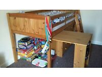 For Sale - Child's Cabin Single Bed with pull out desk and built in chest of drawers
