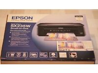 Epson Stylus SX235W All-in-One Inkjet Printer With Ink! (Not Working, Read Description)