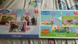 Peppa pig & frozen jigsaw