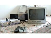 TV/DVD player, freeview receiver and music system