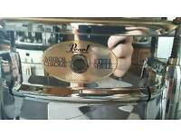 Pearl Mirror Chrome Stainless Steel Snare