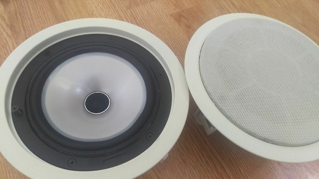 4x kef ci160 qr in ceiling speakers rrp 200 each in