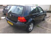 VW Golf MK4 metallic black, 1 year MOT £595
