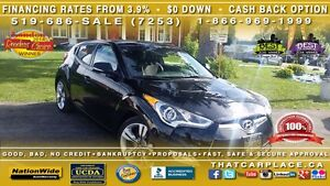 2015 Hyundai Veloster Base-$70/Wk-Bluetooth-Alum-USB/AUX/CD/MP3- London Ontario image 1